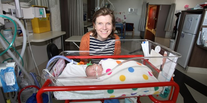 Alicia Spittle With Neonate